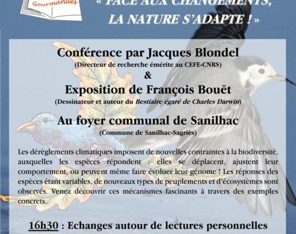 Conférence : Face aux changements, la nature s'adapte !
