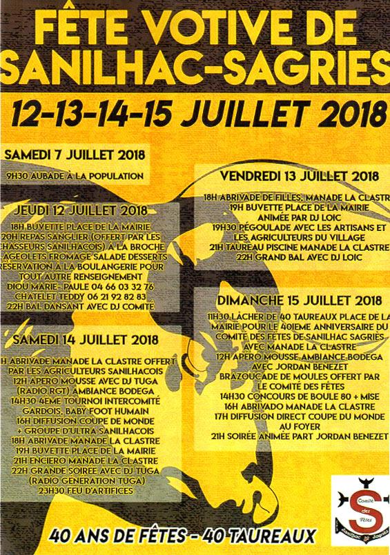 Calendrier Fete Votive 2019 Gard.Fete Votive De Sanilhac Sagries Mairie De Sanilhac Sagries