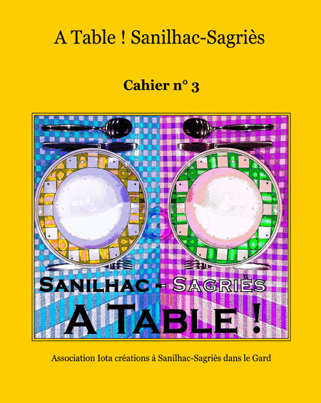 Cahier de recettes A Table ! n° 3