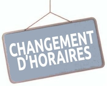Information mairie Nouveaux Horaires